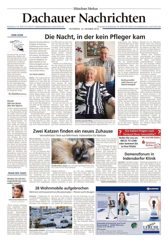 Dachauer Nachrichten - Die Nacht in der kein Pfleger kam